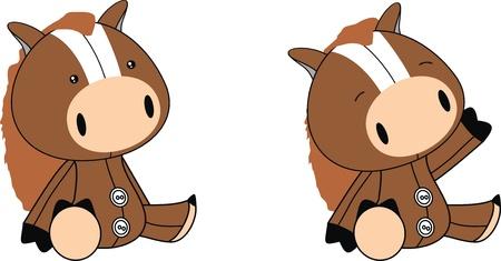 plush: horse plush cartoon