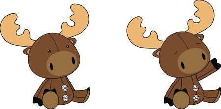plush: reindeer plush cartoon