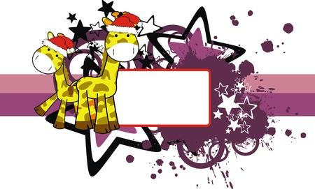 copyspace: giraffe xmas copyspace