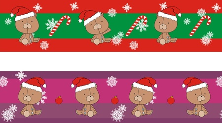 teddy  claus cartoon banner  Vector