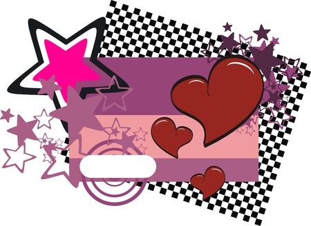valentine heart cartoon background Vector