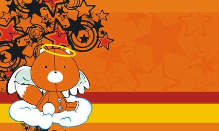 fox  angel cartoon wallpaper Stock Vector - 8618227