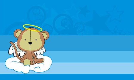 monkey  angel cartoon wallpaper