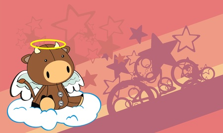 Bull angel cartoon achtergrond