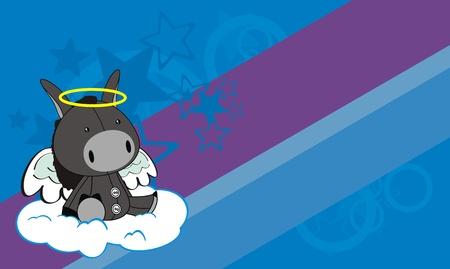 angel: donkey angel cartoon background  Illustration