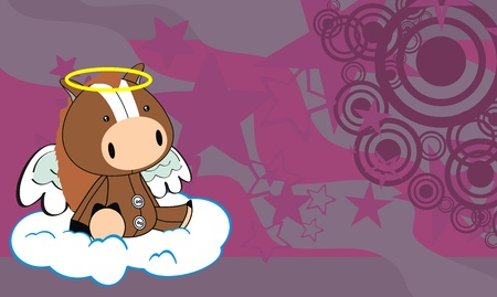 baby toy: horse angel cartoon background