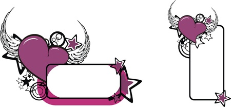 winged heart copy space  Vector