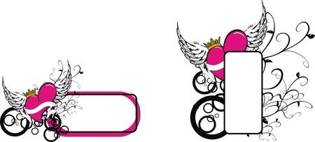 copyspace: winged heart copyspace
