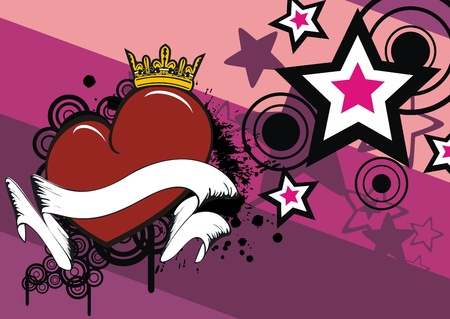 hartje cartoon: cartoon hart valentine achtergrond