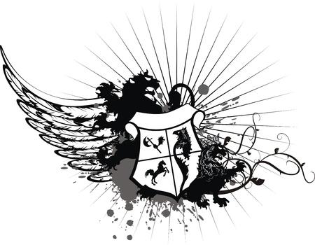 heraldic coat of arms tshirt in format very easy to edit2