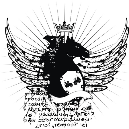 tattoo design: heraldic coat of arms tshirt in format very easy to edit7