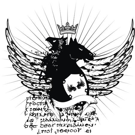 heraldic coat of arms tshirt in format very easy to edit7