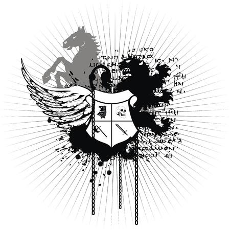 heraldic coat of arms tshirt in format very easy to edit10 Vector