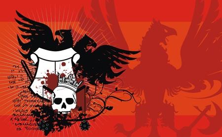 heraldic coat of arms background in format very easy to edit6 Vector