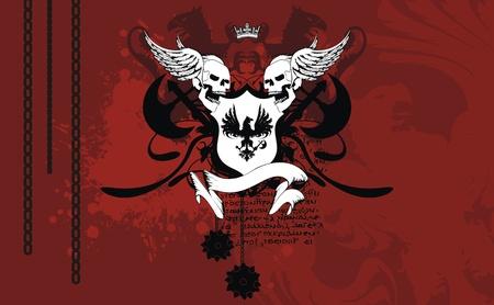 heraldic coat of arms background in format very easy to edit3 Vector