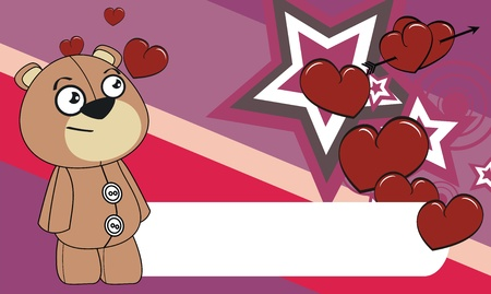 edit valentine: teddy  cartoon valentine background in format very easy to edit