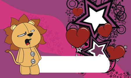 edit valentine: lion  valentine cartoon background in format very easy to edit