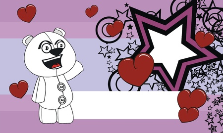 edit valentine: polar bear  cartoon valentine background in format very easy to edit