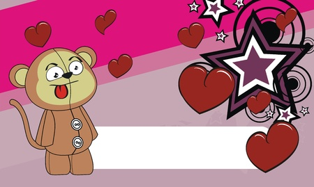 edit valentine: monkey  cartoon valentine wallpaper in format very easy to edit