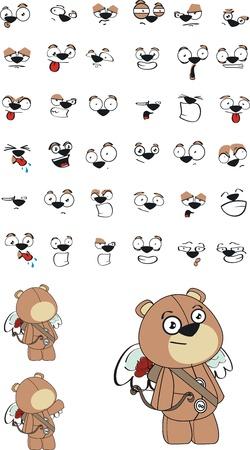 Teddy cupid cartoon in formaat zeer eenvoudig te edit03