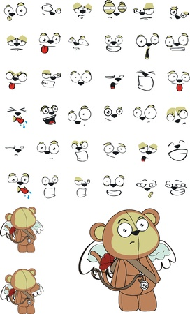 monkey  cupid cartoon in format very easy to edit06 Vectores