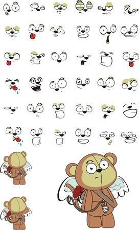 plush: monkey  cupid cartoon in format very easy to edit06 Illustration