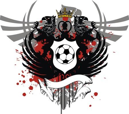 soccer: heraldic soccer coat of arms