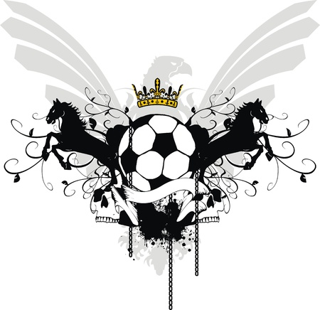 heraldic soccer coat of arms