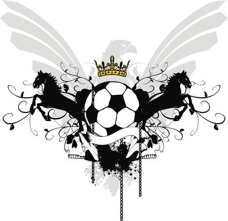 desing: heraldic soccer coat of arms