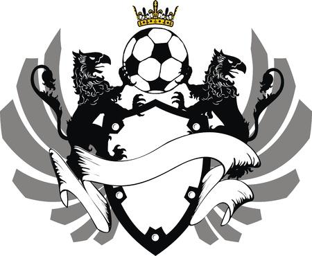 Blason héraldique de soccer au format très facile à edit3 Banque d'images - 8826258