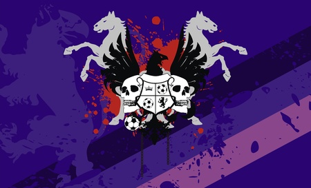 heraldic soccer coat of arms background  Vector