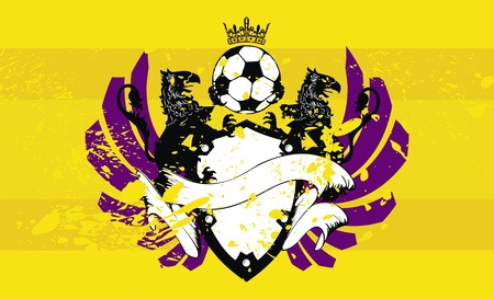 heraldic soccer coat of arms background  Иллюстрация