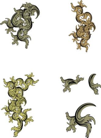 heraldic coat of arms ornament Ilustrace