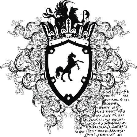 heraldic coat of arms ornament  Vector