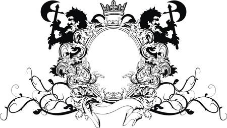 desing: heraldic coat of arms ornament