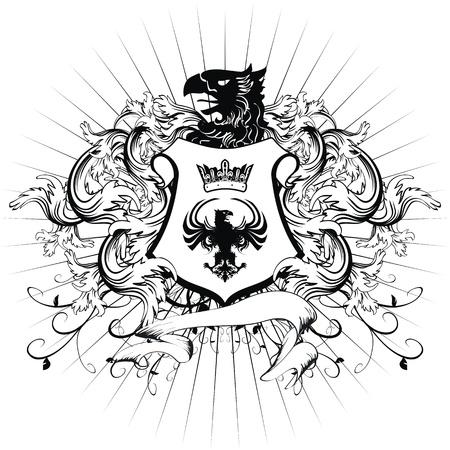 heraldic coat of arms ornament Stock Illustratie