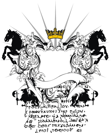 Blason héraldique ornement  Banque d'images - 8915743