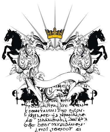 heraldic coat of arms ornament