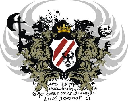 heraldische wapen ornament