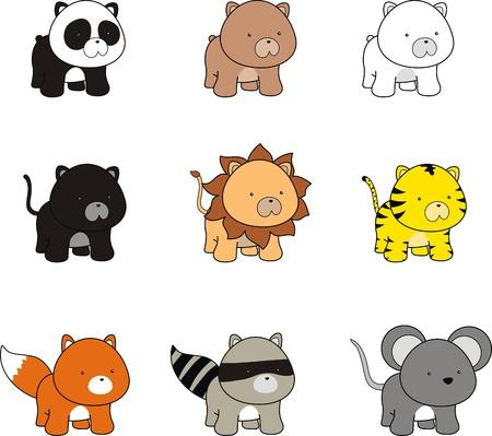 baby animals cartoon  Ilustração