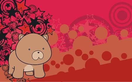 teddy bear baby cartoon background Vector