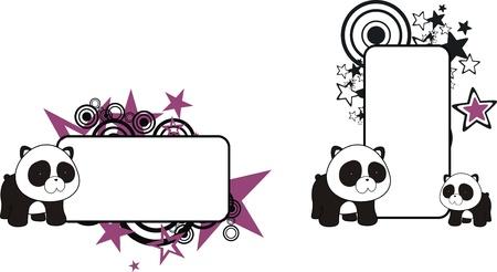 팬더 곰 만화 복사본 공간