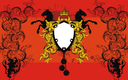 heraldic ornament  background Vector
