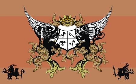 heraldic ornament  background