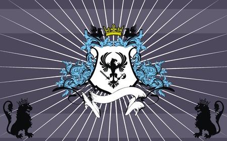 heraldic ornament  background