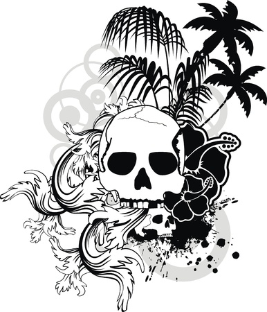 hawaiian skull ornament