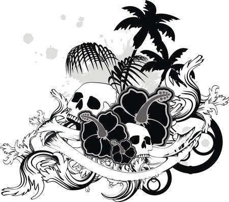 Hawaiiaans schedelornament