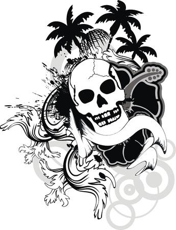 hawaiian skull ornament