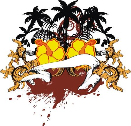 ハワイアンのスカル飾り