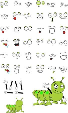 Caterpillar cartoon ensemble Banque d'images - 9098757